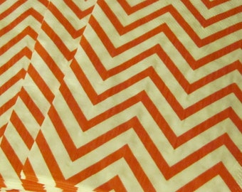 Red and White Chevron Paper Party Napkins Placemats
