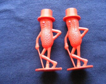 Mr Peanuts, Salt & Pepper Shakers, Mr Peanut, Vintage Shakers, Salt and Pepper Shakers, Advertising Shakers