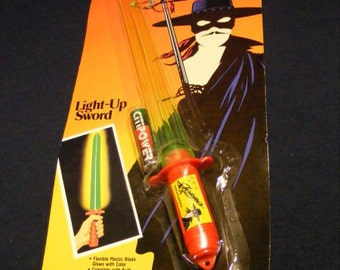 Light Up Sword, Vintage Zorro, 1994, BRAND NEW, Light Up Toy, Sword
