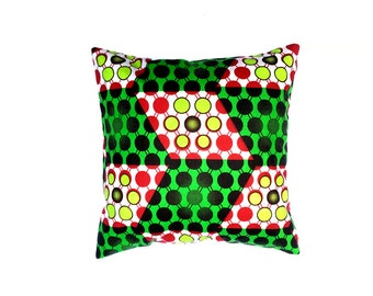 Kids Pillow Cases, Playroom Decor, African Print Pillow, Throw Pillow Covers 18x18, Eclectic Decor