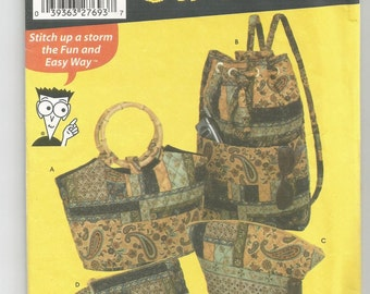 5076 Simplicity Sewing Pattern Handbag Make Up Case Change Purse Ladies Bags