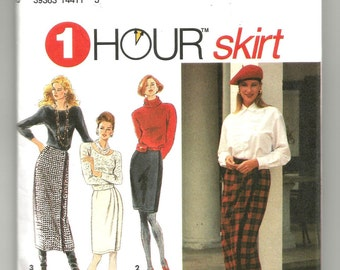 8559 Simplicity Sewing Pattern Front Wrap Skirt Front/Length Variations UNCUT