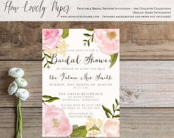 Printable Bridal Shower Invitation - the Collette Collection
