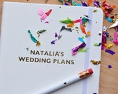 Personalised Wedding Plans Soft Touch Lined A5 Notebook Journal