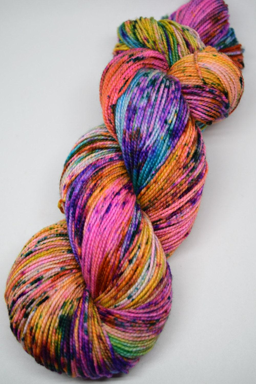Hand Knitting Yarn Design : Hand dyed yarn painted handpainted superwash