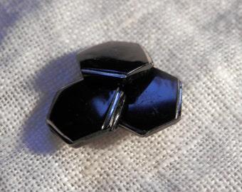 SET Vintage Glass Art Deco Buttons