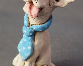 Mini Dog with Jaunty Tie - Sculpture