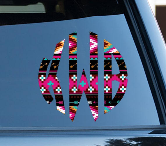 Aztec Car Decal Tribal Car Stickers Car Decor Cute Car Accessories Car Decals Monogrammed Vinyl Decal For Yeti Birthday Gifts for Friends