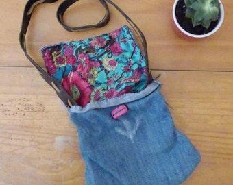 Hand-stitched repurposed denim bag