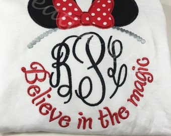 Disney-Minnie Monogram- Youth sizes