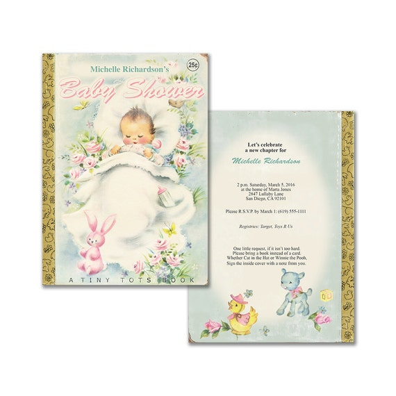 Book themed baby shower invitation printable baby shower invite il570xn filmwisefo