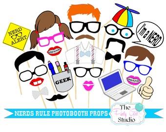 25 pc * Nerds Rule Photo Booth Props/Geeks Photobooth/Nerds Rule/Nerd Alert - DIGITAL FILE