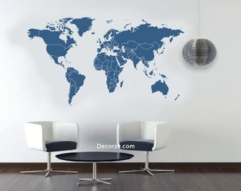 World Map Stencil Large & Customize Sizes also available