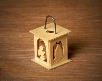 Christmas Wooden Lantern for your Dollhouse