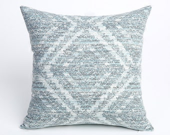 Intricate Blue Designer pillow cover Decorator pillow cover Robert Allen Throw Pillow Cover 18x18 20x20 Tuscan pillow cover-1EYN