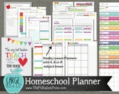 "Homeschool Planner {Printable} Set - Sized Large 8.5"" x 11"" PDF"