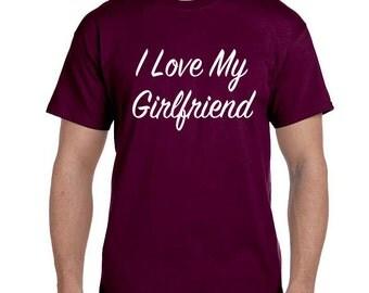 Gift for Boyfriend Anniversary, I love My Girlfriend Shirt Boyfriend Gift Long Distance Relationship Boyfriend Shirt, Boyfriend TShirt Ideas