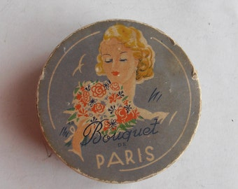 rare bouquet de Paris powder box