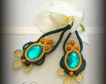 Exotic Prom Bride Bridesmaid Soutache Earrings