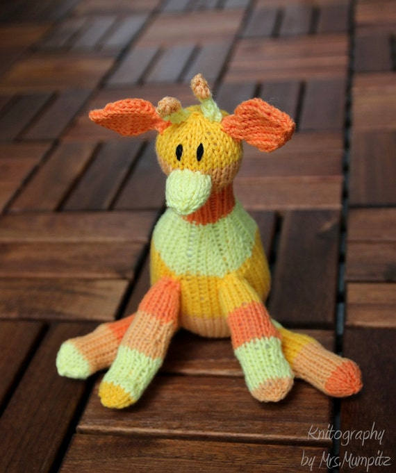 Giraffe Knitting pattern for beginners and advanced knitting pattern PDF download