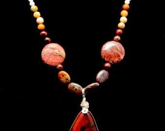 Goddess Papa - Natural Stone Pendant