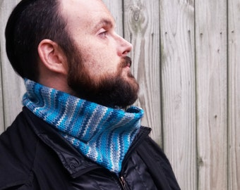 Knitted Men's Cowl - Knit Scarf for Men - Neck Warmer for Men - Gift for Husband - Men's Cowl Scarf - Gift for Boyfriend