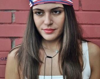 US Flag Headband, Jersey Headband, Bandana Headband, Elastic Headband, Fitness Headband, Vintage Headbands, Turban Headband, Womens Turban