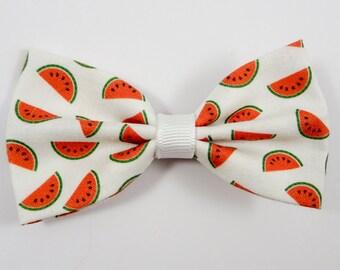 Watermelon Hair Bow (Summer Fruit, Watermelon Slices)