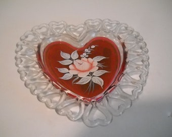 Rose Heart Ring/Jewelry Holder
