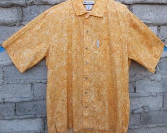 Vintage Mens Shirt 90s South Pacific Beach Coastal Travel California Surfer sz fits Medium Oversized