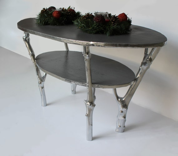 Tree Branch Coffee Table Silver And Custom Color By Woodmajestic