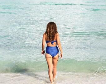 MAKA handmade high waist bikini bottom