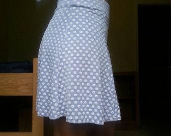 Vintage Lavender Flower Print Skirt