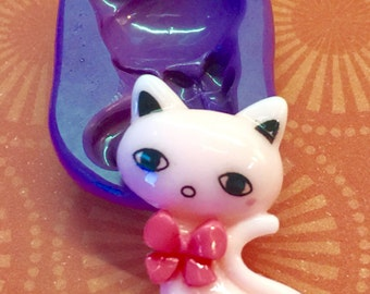 Pretty Kitty 29x18mm Flexible Silicone Baking or Resin Mold - Food Grade
