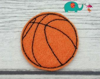 Basketball set of 4 UNCUT wholesale felties, felt embellishment, hair bow centers, hair accessories, scrapbook supplies, sport felties