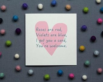 Funny Card // Unromantic // Valentine's