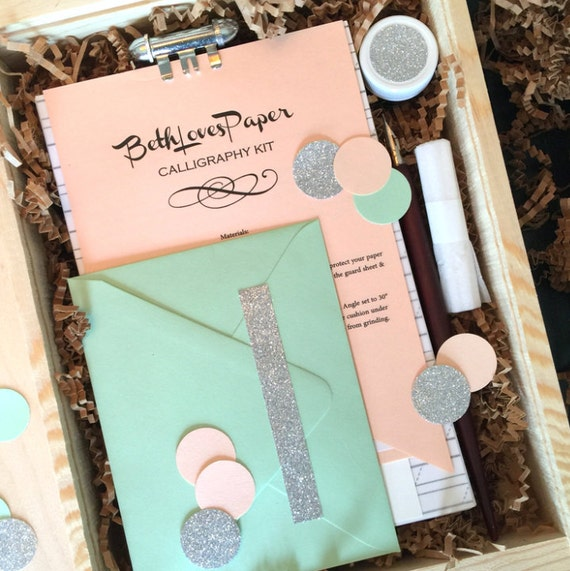 Beginner s calligraphy kit by bethlovespaper on etsy