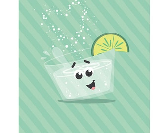 You are the Gin to My Tonic - Valentine's Day Card, Love Card