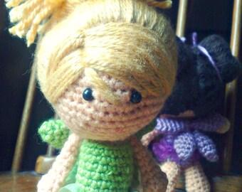 Amigurumi doll - Blonde hair doll - Fairy - Crochet doll - Crocheted doll - Amigurumi Fairy doll - Crochet Fairy doll