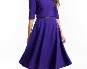 Purple Bridesmaid Dress, Petite Dress, Holiday Dress, Gown Dress, Womens Loose Dress, Babydoll Dress, Elegant Gown, Romantic Clothing