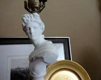 Classical figural Roman lamp bust statue of Apollo