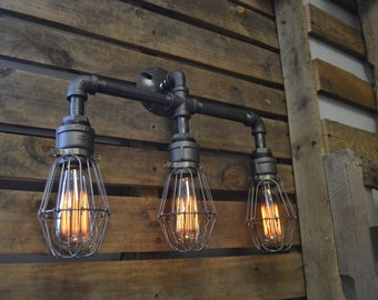 industrial style lighting fixtures. Industrial Style Steel Light Wall Decor Lamps Fixtures Customized Reclaimed View By WestNinthVintage On Etsy Lighting