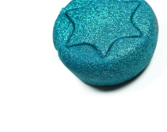 Handmade Glittery Turquoise Child's Dough