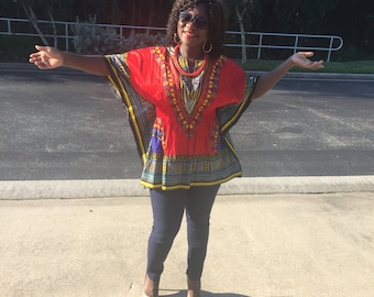 African Clothing, African Print Shirt