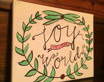 Joy to the World Canvas Art