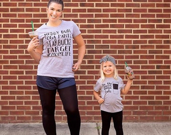 Mommy and Me, Mothers Day Outfit, Toddler Girl, Mom Life, Mom, Starbucks, Baby Starbucks, Baby Target Shirts, Mom and Me Shirts, Mama Drinks