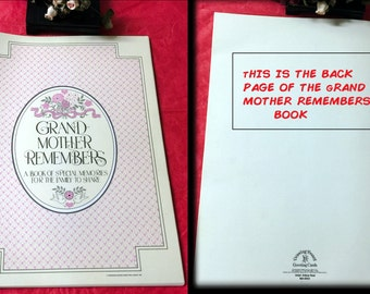 GRAND MOTHER REMEMBERS A Book Of Special Memories For The Family To Share - 1982 *Unused Very Rare*