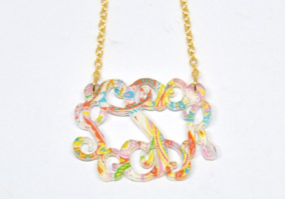 Monogram Necklace Simply Southern Inspired 3 By
