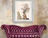 Rabbit Art - Bunny Antoinette marie Antoinette - bunny decor Rabbit decor Rabbit Painting bunny art print bunny illustration Bunny wall art