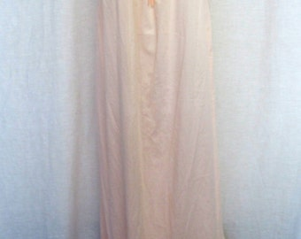 Summer Nightgown Cotton Nightgown Long Pink Nightgown 1960s Nightgown Mad Men Nightgown